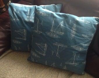 Hand made sailing boat cushions