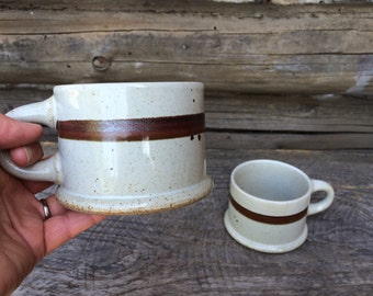 Vintage Dansk Japan Stoneware Mugs Set of Two