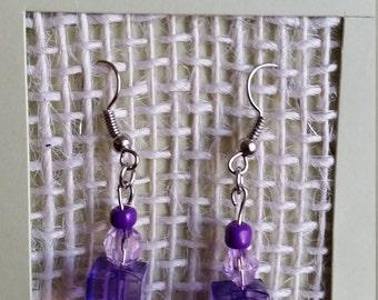 Purple Beaded Earrings ITEM# PURPLE-001
