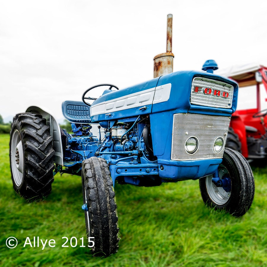 Old Ford Farm Tractors : Old tractor blue ford classic or vintage farm