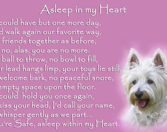 West Highland White Terrier Westie Memorial Fridge Magnet pet loss bereavement gift