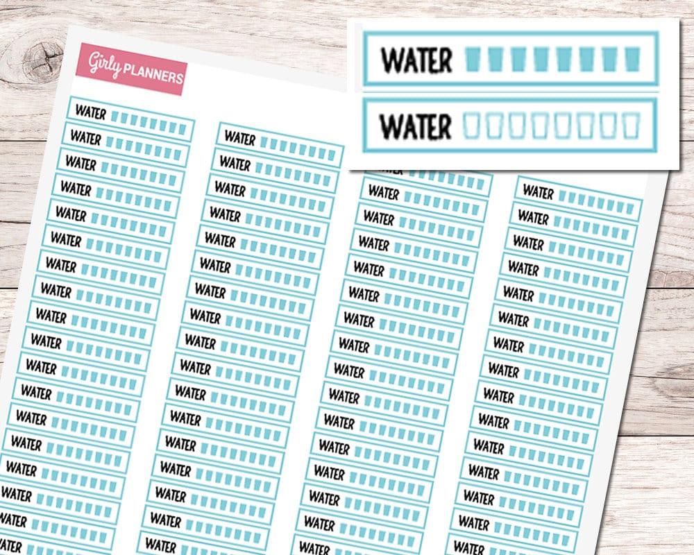 Geeky image regarding water tracker printable