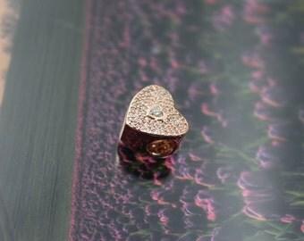Authentic Pandora Charm Rose Gold Sweetheart Charm 781555CZ