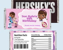Doc McStuffins Candy Bar Wrapper, Hershey Bar Wrappers PRINTABLE