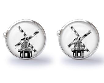 Windmill Cufflinks (Pair) Lifetime Guarantee