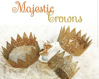 Whimsical Majestic Crowns in Gold- All colors available upon request