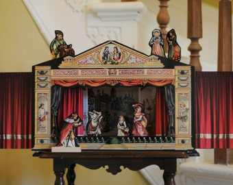 Vintage Victorian Theatre, Art, Child's Toy, Unique Gift, Fairy Tale, Story Book Theatre