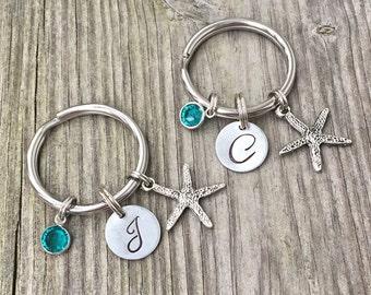 Set of 2 - Gift best friend - Best Friend Keychain - Starfish - Keychain - Best Friend Gift - Best Friends - BFF Keychain - Friend Keychain