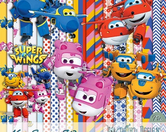Kit Scrapbook Super Wings