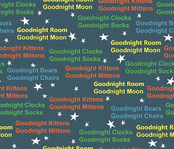 Goodnight Moon Goodnight Bunny Yellow Blue By Quilting