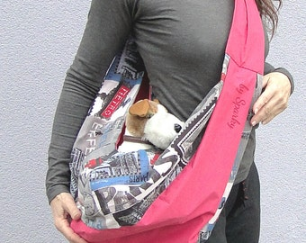 "Small Dog carrier ""La vie en rose"""