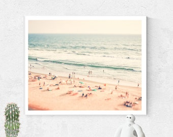 Beach Photo, Wall Art, Beach photography, Printable Wall Art, Tilt shift, Printable Beach Art, Summer print, Instant Download, Landscape