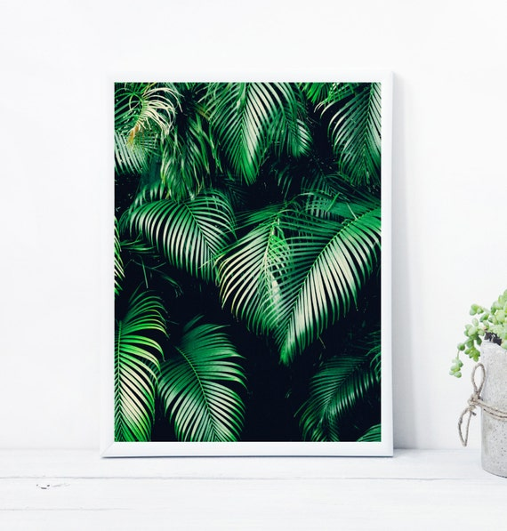 Tropical printable wall art with instant download Tropical