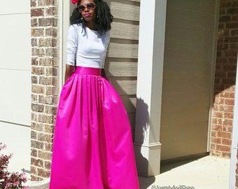 "Satin Ball Skirt ""Nadine"" Several Colors, Sizes XS- 6XL Any Height"
