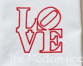 Digital Download  LOVE Robert Indiana Embroidery Design Machine Embroidery File for 4x4 and 5x7 hoops