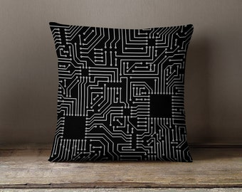Circuit Board Pillow | Computer Geek Gifts | Nerd Gifts | Computer Science Gift | Electrical Engineer | Tech Gifts | Computer Circuit