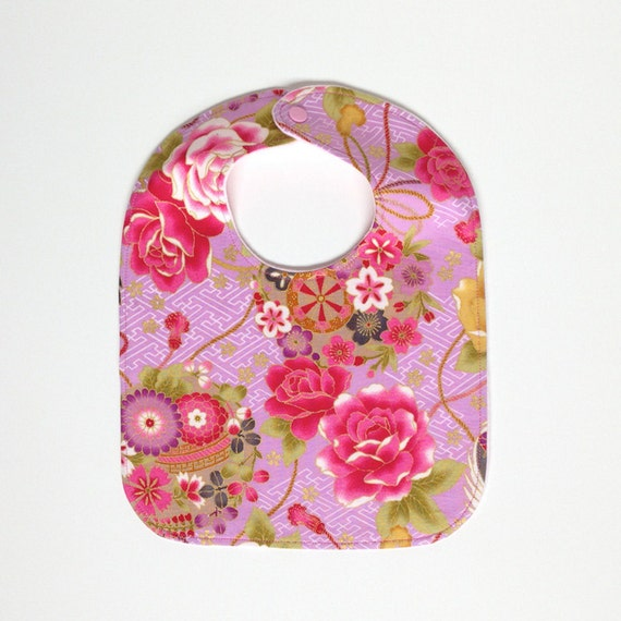 Baby Gifts For Japanese : Japanese floral bib flowers baby girl gift large