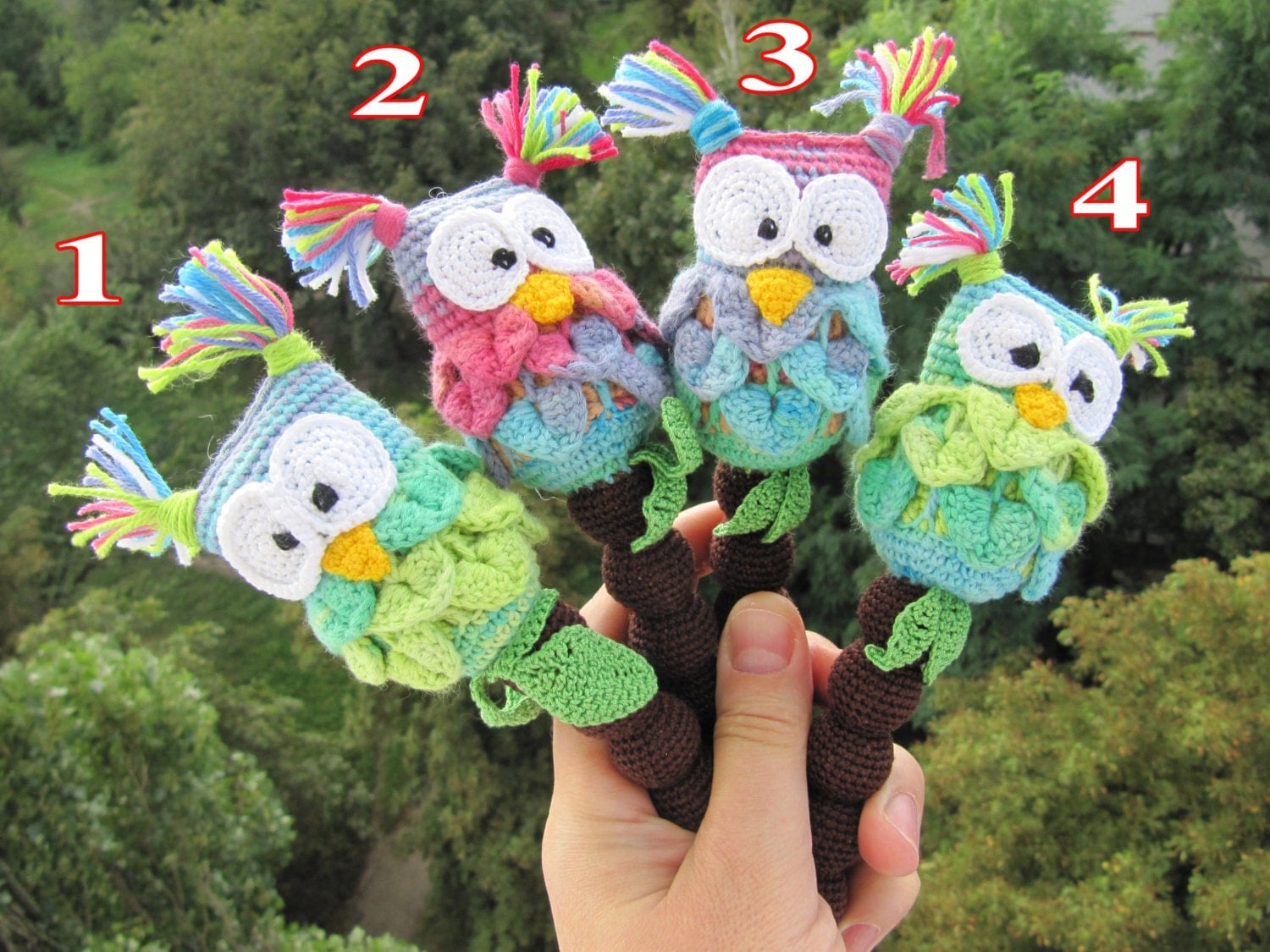 Unique Baby Toys : Unique baby gift owl shower rattle toys by
