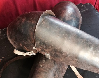 Antique Armor Metal Greaves