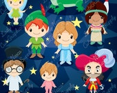 Neverland clipart, pirates clipart, Peter clipart, fairy clipart -LN0140-