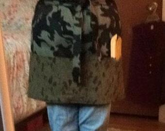 Camouflage Utility half apron
