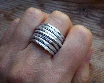 Silver band ring // Adjustable ring // Silver accessories // Silver jewelry // Aluminum ring