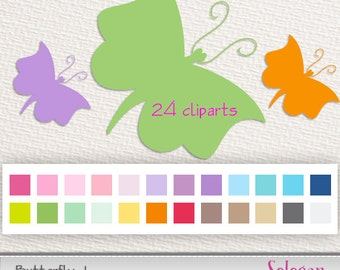 """butterfly clipart """" Butterfly -1 """" digital clipart printable png eps psd clip art diy decor instant download"""