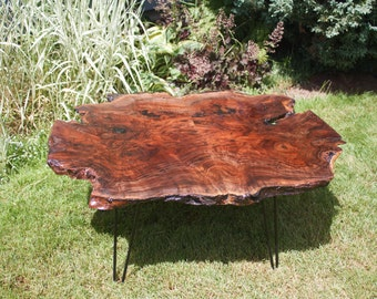 Live Edge Book matched Black Walnut Coffee Table