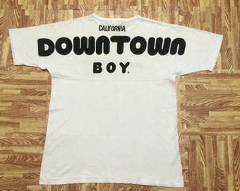 Vintage 80s California DOWNTOWN BOY t shirt Jerry Bros