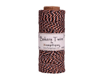 Black, Orange & White Bakers Twine Spool