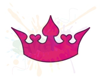 Tiara SVG Files for Cutting Princess Crown Cricut DXF Designs - SVG Files for Silhouette - Instant Download