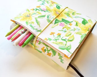 Any design Handpainted wrap around Bible cover with zipper pocket