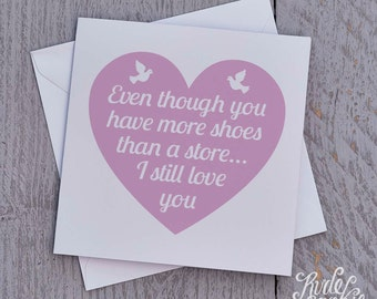 Funny Valentines Card, Shoes