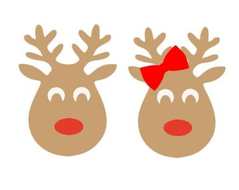 Simple Reindeer SVG, Studio 3, DXF, EPS, ps and pdf Cutting Files for Electronic Cutting Machines