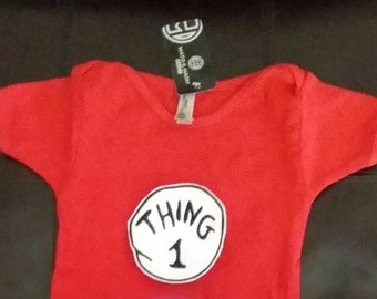 Thing one shirt, thing one onesie, baby boys birthday shirt, thing one birthday, boys birthday, dr. Suess birthday, boys onesie, red onesie