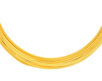 Aluminum wrapping wire, anodized 18k gold-finished 23gauge beading wire 48-foot coil