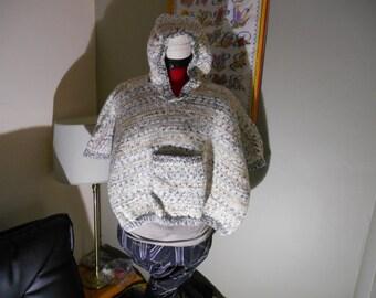 a hooded poncho