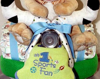 Boys Tricycle Diaper Cake