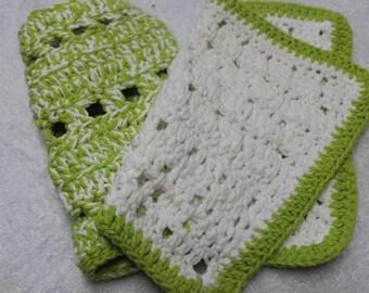 Handmade, thick cotton dishcloths