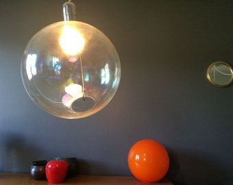 Huge suspension glass ball - 1970s
