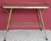Vintage Folding Table occasional table  Boho.Retro  Shabby chic Camping Glamping Magazine Rack