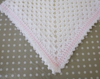 Traditional 'Grannie Square' Pram Blanket
