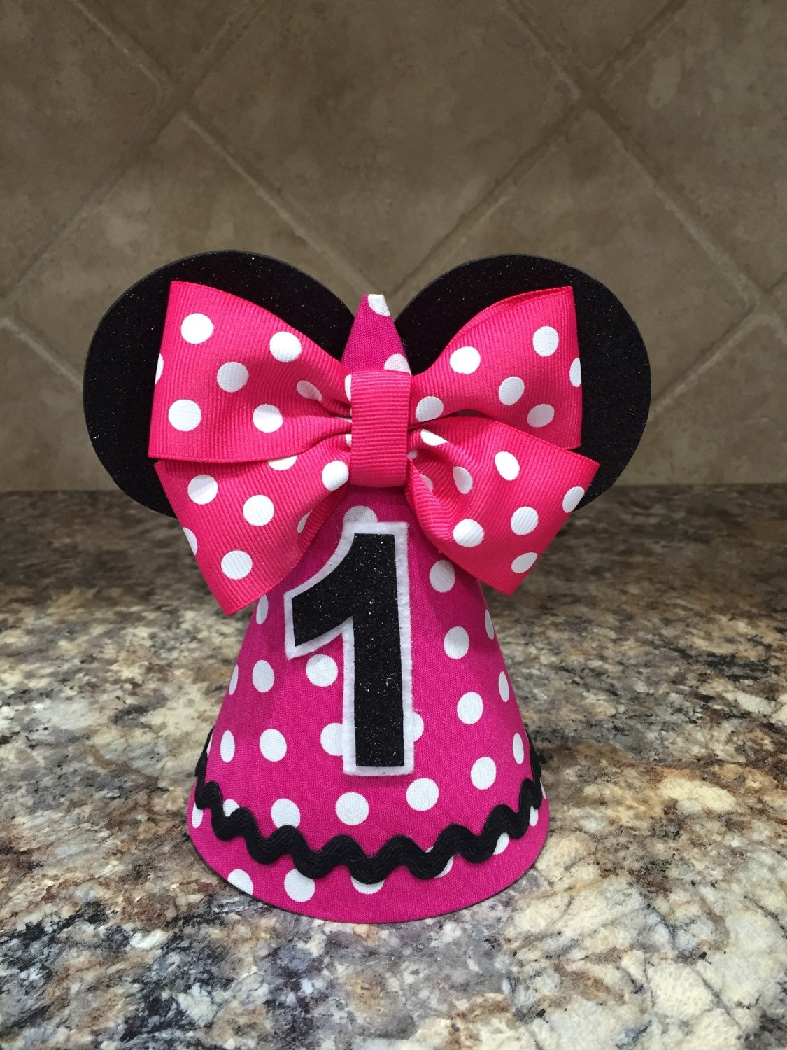 Minnie Mouse Birthday Hat Pink First Jpg 1125x1500 Party Hats
