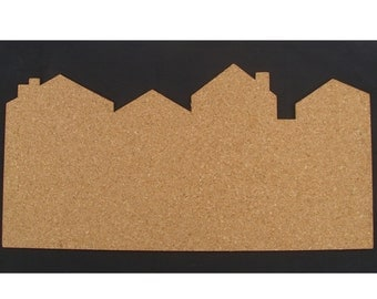 City bulletin board made of cork - color me