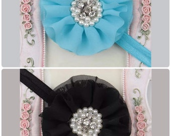 Rhinestone brooch headband