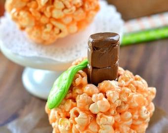 Pumpkin Popcorn Balls, Halloween Popcorn, Thanksgiving Popcorn, Holiday Popcorn