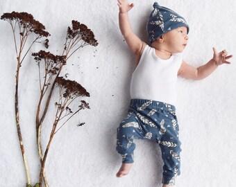 Organic Blue Feather Child & Baby leggings