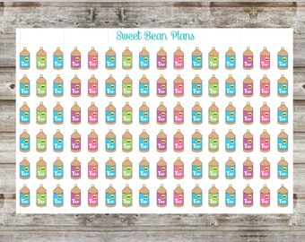 90+ Tanning Lotion Planner Stickers