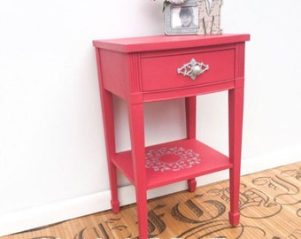 Hot Pink Nightstand- Custom Color Annie Sloan Chalk Paint