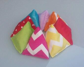 Kids Throwing Bean Bags (Small Triangular) Set of Eight.
